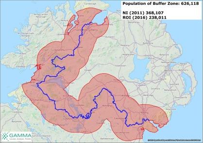 Proposed Irish border-buffer zone